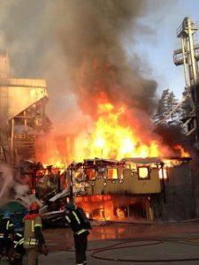 Brann på Skjefoss Korn